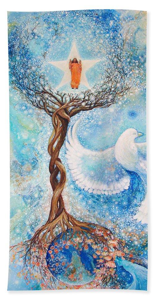 Guru Beach Towel featuring the painting Paramhansa Yogananda - Mist by Ashleigh Dyan Bayer