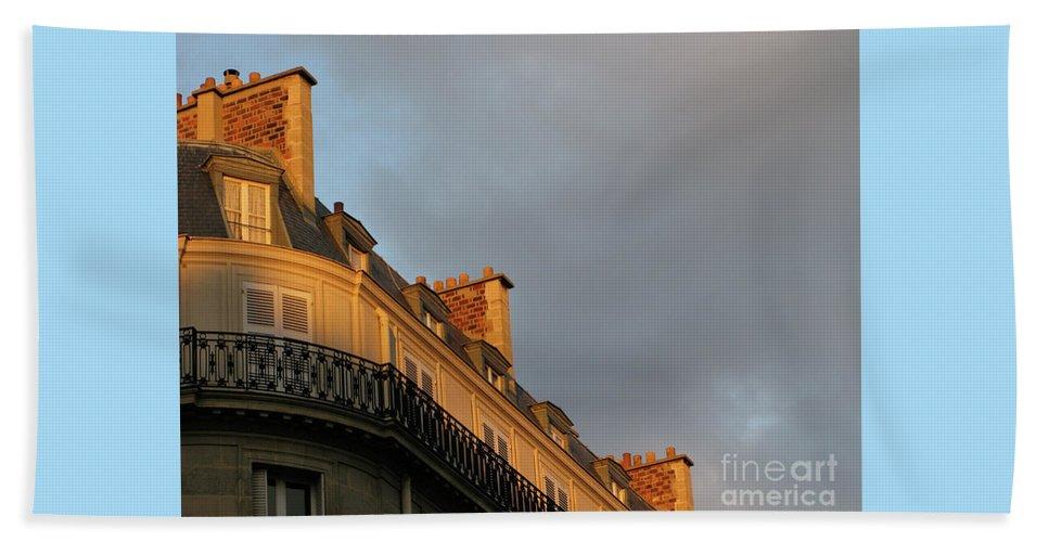 Paris Beach Towel featuring the photograph Paris At Sunset by Ann Horn