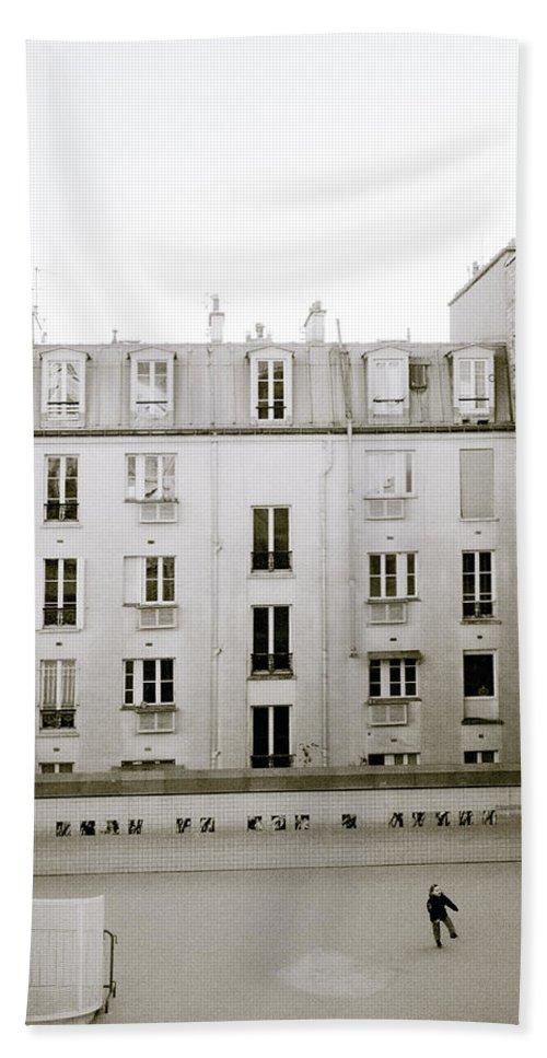 Solitude Beach Towel featuring the photograph Solitude In Paris by Shaun Higson