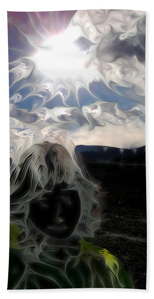 Fractal Beach Towel featuring the photograph Participation - Elements - Energy by Marie Jamieson