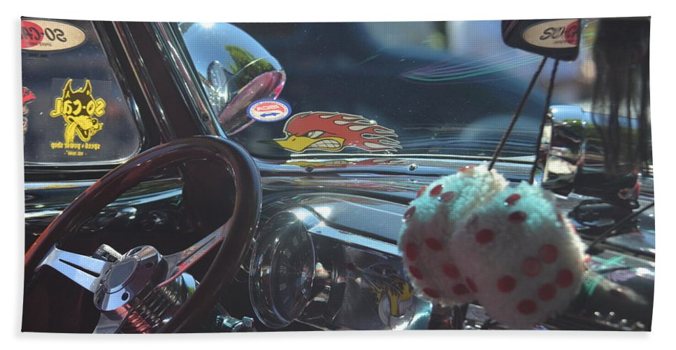 Car Beach Towel featuring the photograph Passengers Side by The Artist Project