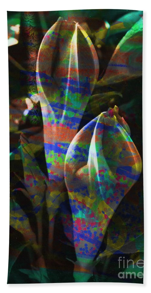 Flower Image Beach Towel featuring the digital art Passion Flowers by Yael VanGruber