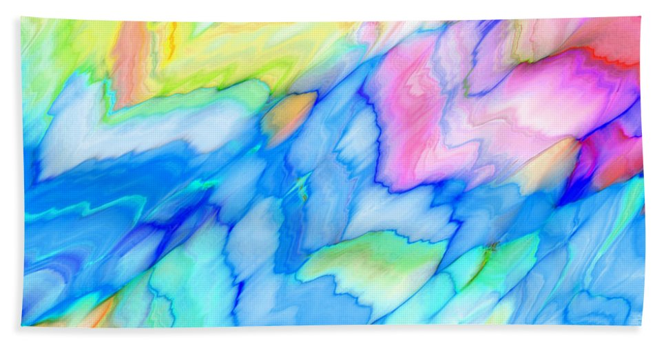 Pattern Beach Towel featuring the digital art Pastel Abstract Patterns V by Debbie Portwood