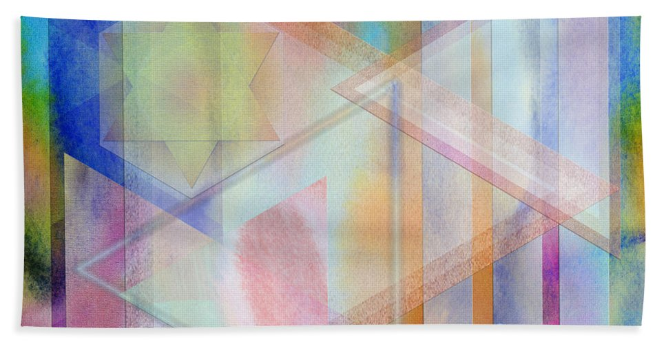 Pastoral Moment Beach Towel featuring the digital art Pastoral Moment - Square Version by John Robert Beck