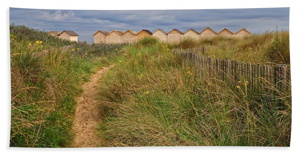 Path Beach Towel featuring the photograph Pathway To The Cabanas by Dave Mills