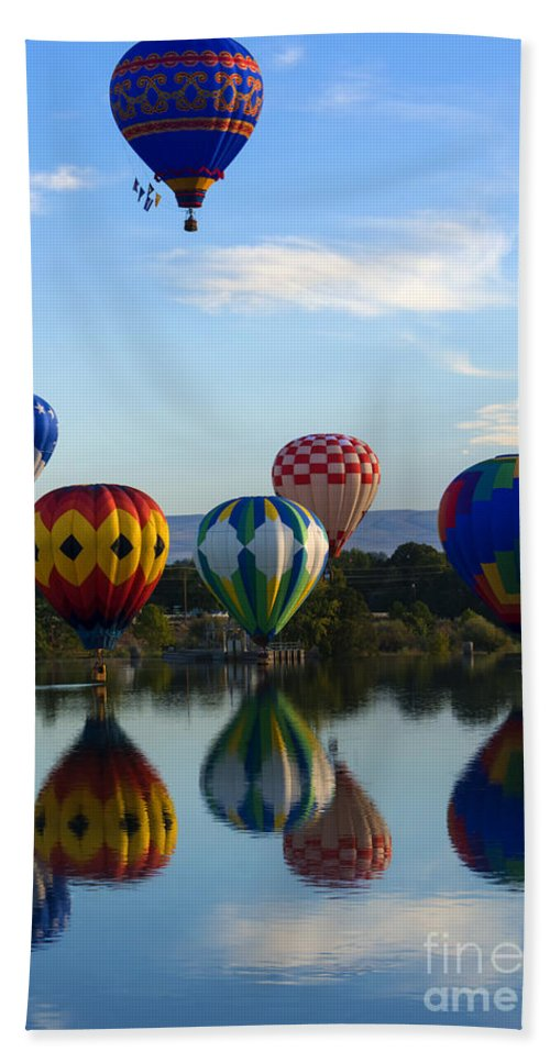 Balloon Beach Towel featuring the photograph Pattern Of Six by Mike Dawson
