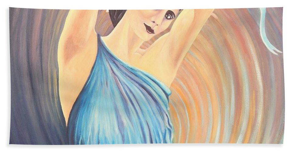 Dancer Beach Towel featuring the painting Pavlova by Caroline Street