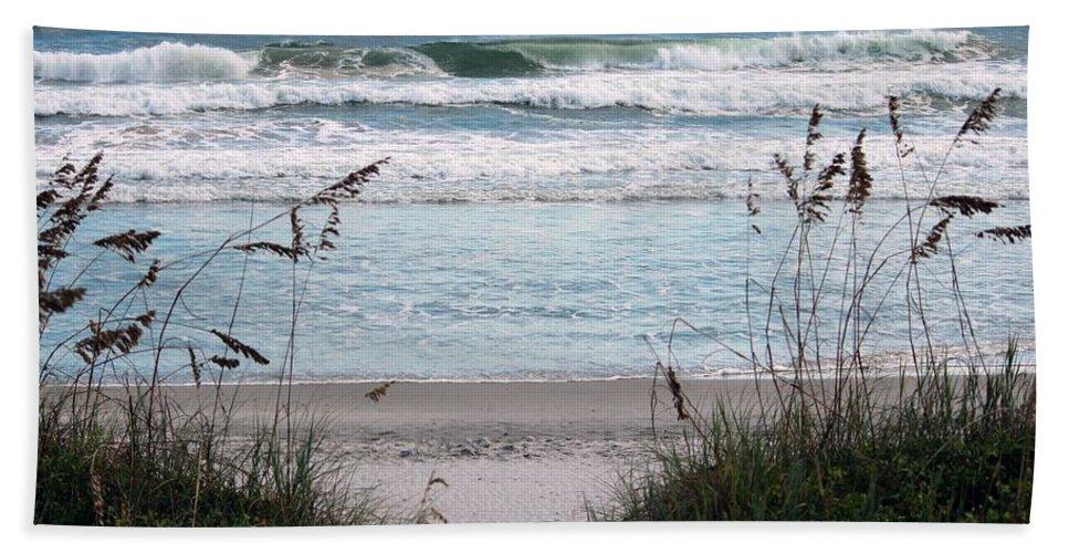 Ocean Beach Towel featuring the photograph Peace At The Beach by Cynthia Guinn