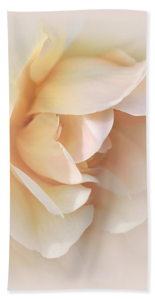 Rose Beach Towel featuring the photograph Peach Rose Tranquillity by Jennie Marie Schell