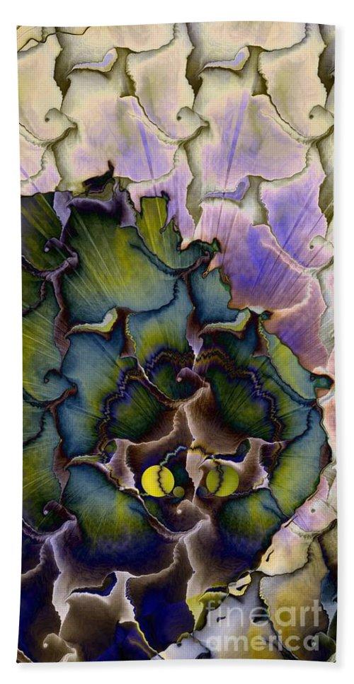 Peacock Dream 4 Beach Towel featuring the digital art Peacock Dream 4 by Elizabeth McTaggart