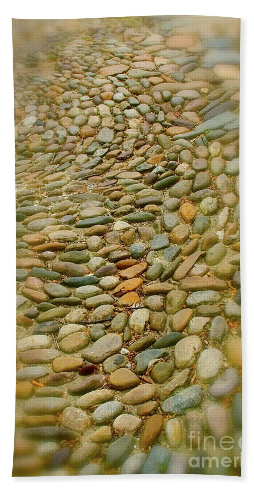 Stones Beach Towel featuring the photograph Pebbles by Rick Monyahan
