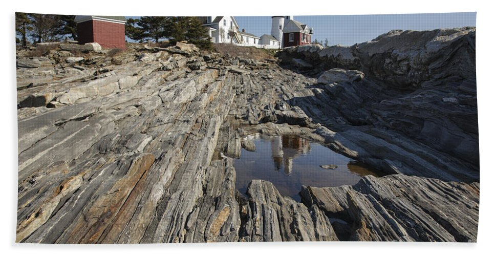 1800's Beach Towel featuring the photograph Pemaquid Point Light - Bristol Maine by Erin Paul Donovan
