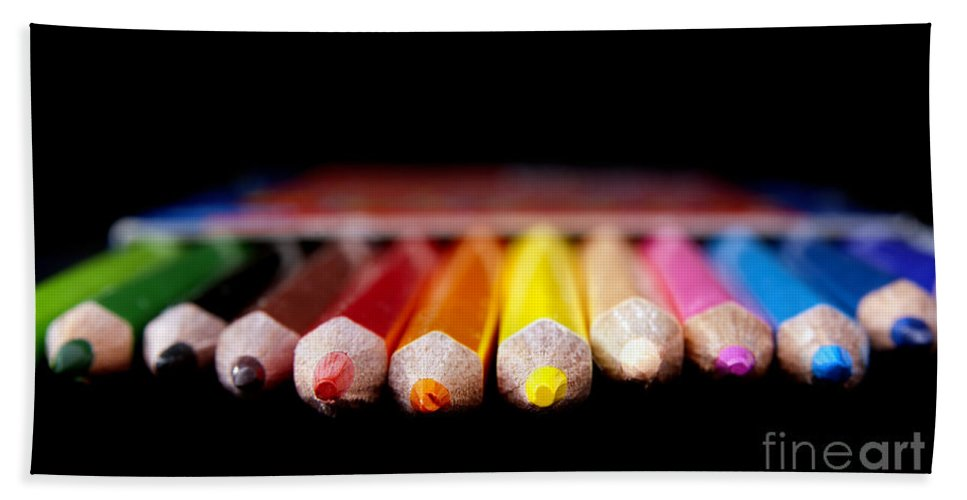 Pencil Beach Towel featuring the photograph Pencils by Tim Hester