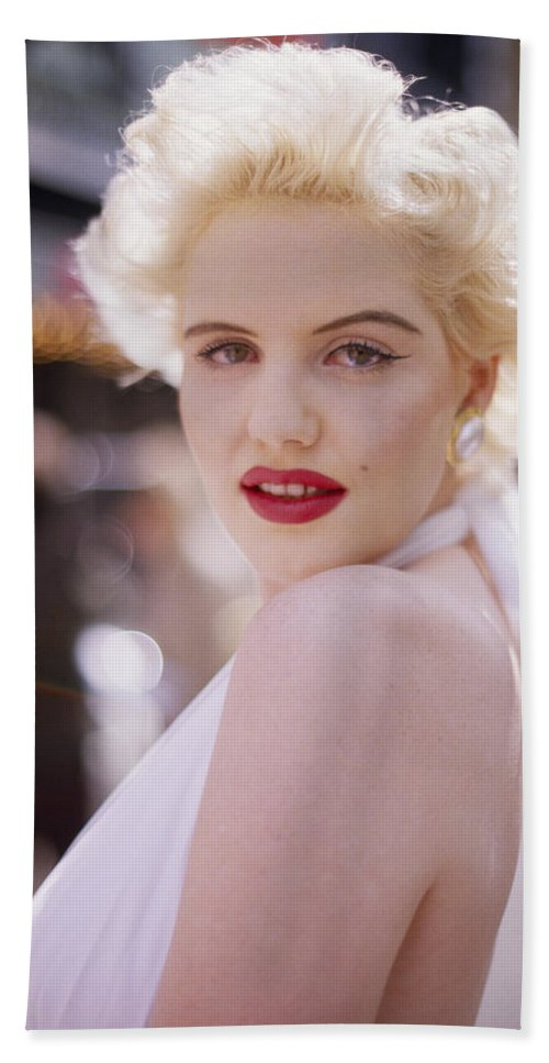 Marilyn Monroe Beach Towel featuring the photograph Beauty Of Marilyn Monroe by Shaun Higson