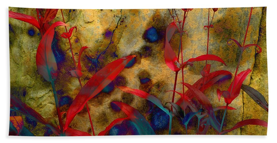 Penstemon Beach Towel featuring the photograph Penstemon Abstract 2 by Mike Nellums