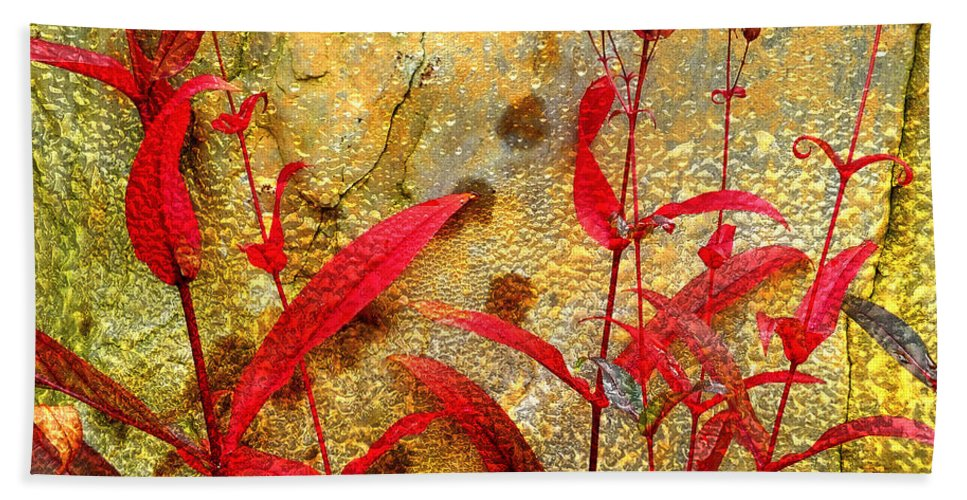 Penstemon Beach Towel featuring the photograph Penstemon Abstract 4 by Mike Nellums