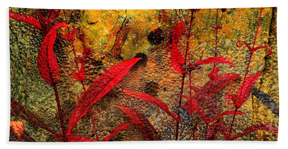 Penstemon Beach Towel featuring the photograph Penstemon Abstract 5 by Mike Nellums