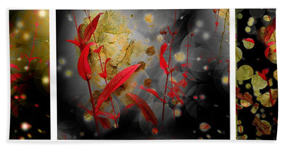 Penstemon Beach Towel featuring the photograph Penstemon Triptych 1 by Mike Nellums
