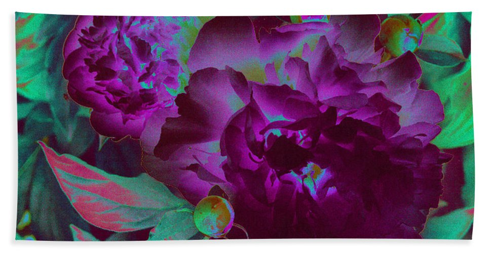 Peony Beach Towel featuring the photograph Peony Passion by First Star Art