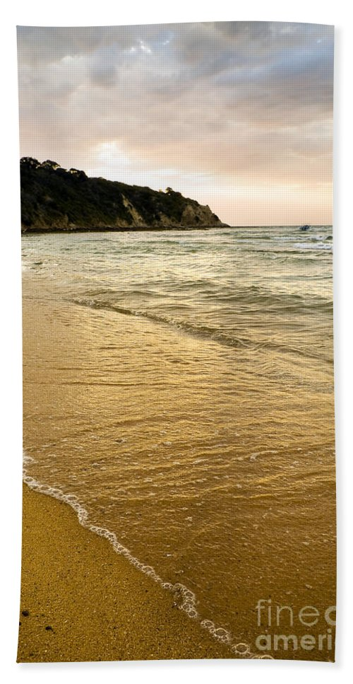 Background Beach Towel featuring the photograph Perfect Sunset Beach by Tim Hester