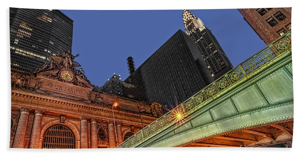 Pershing Square Beach Towel featuring the photograph Pershing Square by Susan Candelario