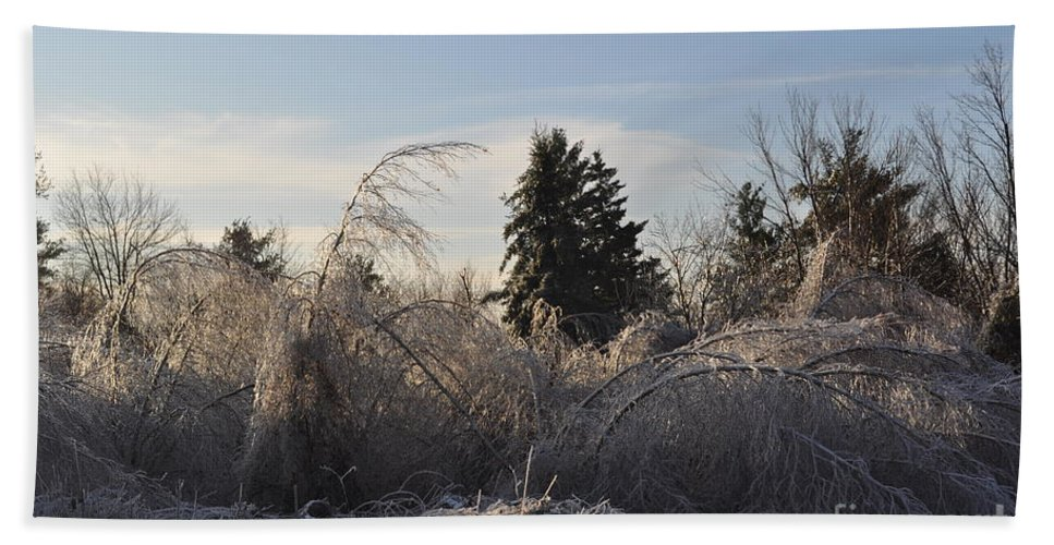 Winter Beach Towel featuring the photograph Peru Massachusetts Ice by Sally Rice
