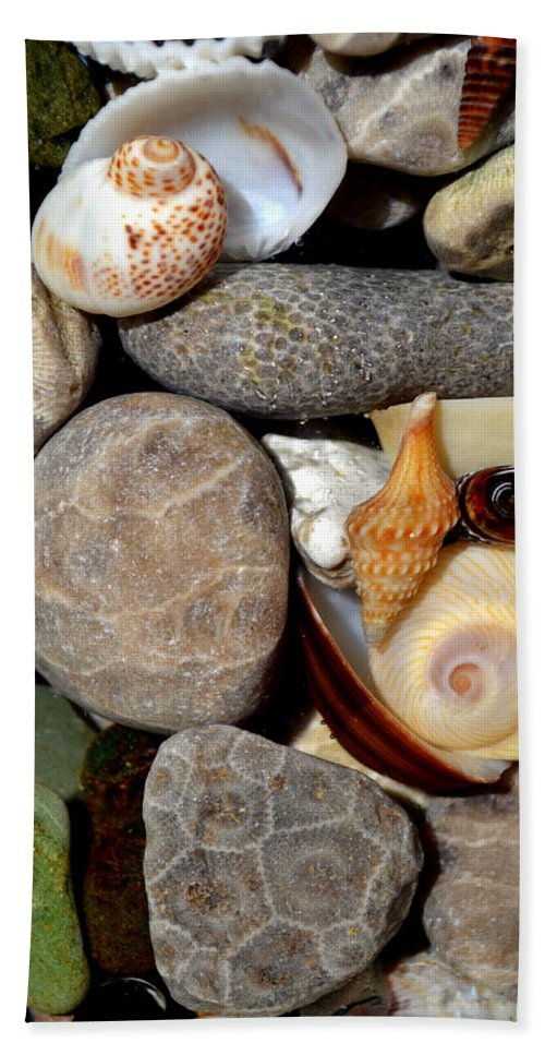 Stone Beach Towel featuring the photograph Petoskey Stones Ll by Michelle Calkins