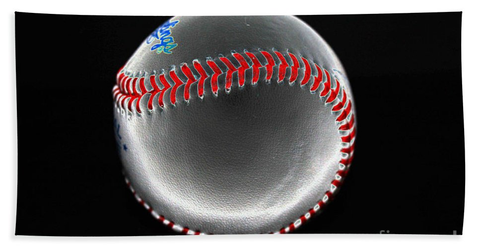 Baseball Beach Towel featuring the photograph Pewter by David Bearden