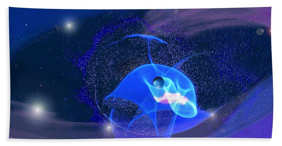 Space Beach Towel featuring the digital art Phenomenon II by Steve Karol