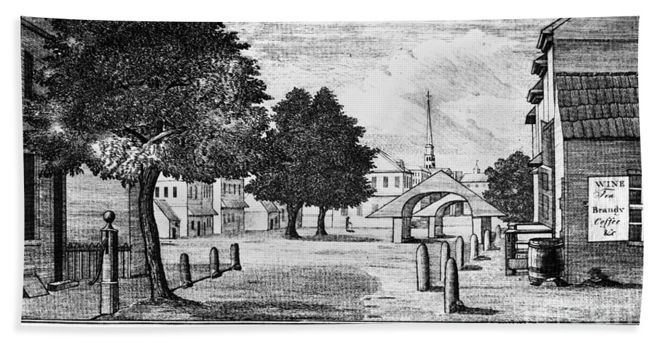1788 Beach Towel featuring the photograph Philadelphia Market, 1788 by Granger
