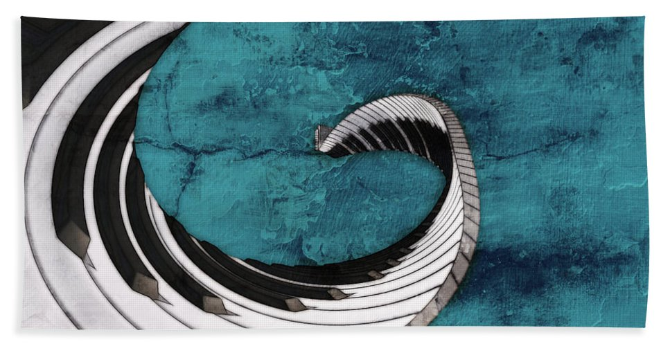 Piano Beach Towel featuring the digital art Piano Fun - S02a by Variance Collections