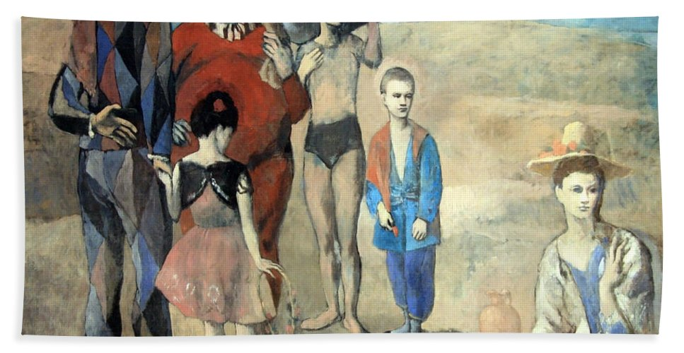 Family Of Saltimbanques Beach Towel featuring the photograph Picasso's Family Of Saltimbanques by Cora Wandel