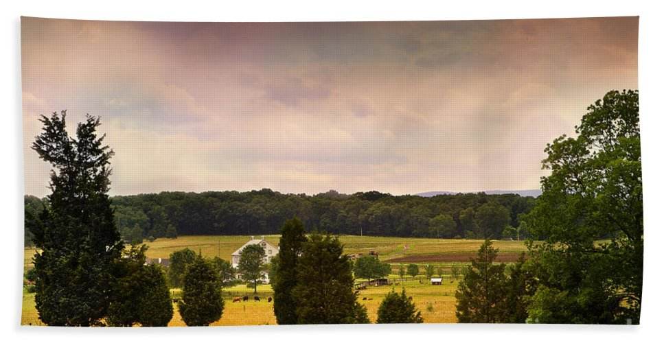Gettysburg Beach Towel featuring the photograph Pickets Charge - Gettysburg - Pennsylvania by Madeline Ellis