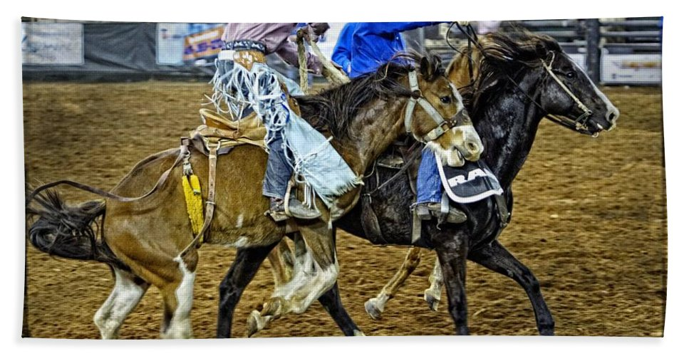 Bronc Beach Towel featuring the photograph Pickup From The Bronc by Alice Gipson