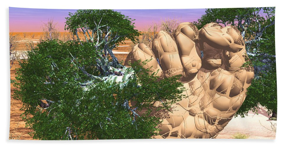 Nature Beach Towel featuring the digital art Piece Of Wasteland by Eric Nagel