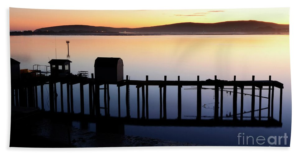 California Beach Towel featuring the photograph Pier At Bodega Bay California by Bob Christopher