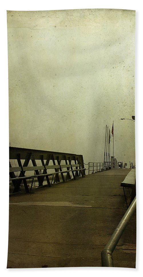 Pier Beach Towel featuring the photograph Pier by Cindi Ressler