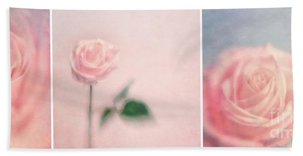 Collage Beach Towel featuring the photograph Pink Moments by Priska Wettstein