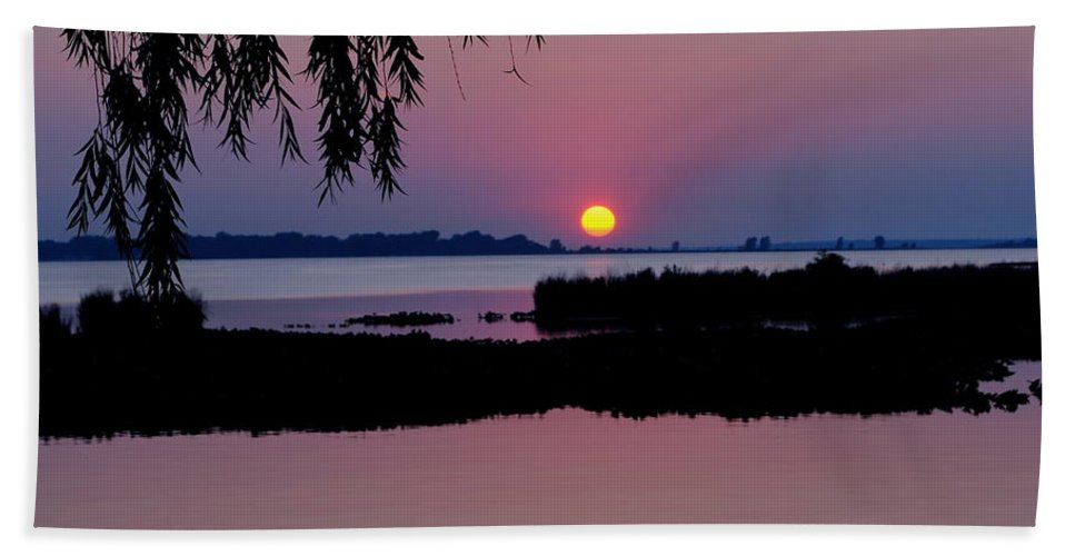 Pink Beach Towel featuring the photograph Pink Paradise Pond by Frozen in Time Fine Art Photography