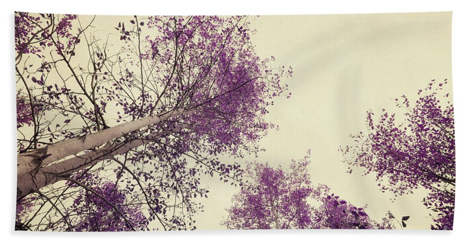 Tree Beach Towel featuring the photograph Pink Trees by Priska Wettstein