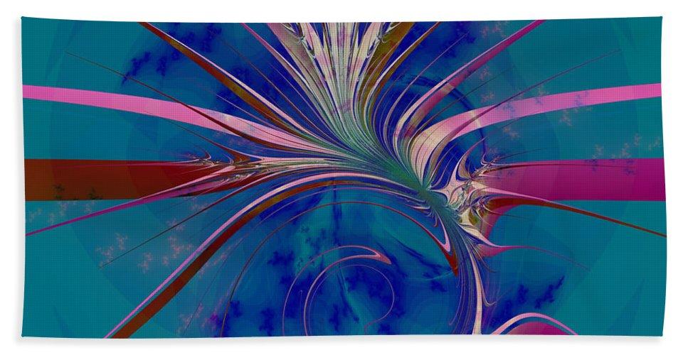Fractal Art Beach Towel featuring the digital art Pink Yucca Twist by Elizabeth McTaggart