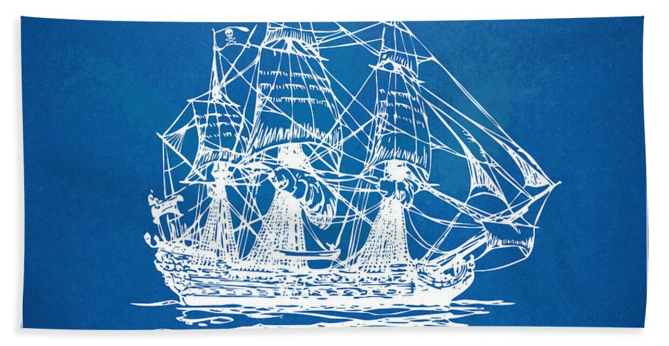 Pirate ship blueprint artwork beach sheet for sale by nikki marie smith pirate ship beach sheet featuring the digital art pirate ship blueprint artwork by nikki marie smith malvernweather Gallery