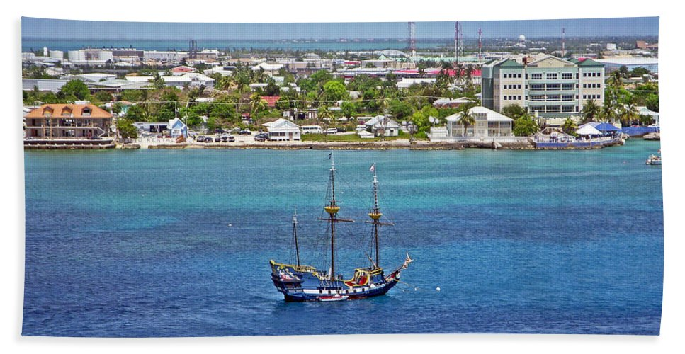 Pirate Ship Beach Towel featuring the photograph Pirate Ship In Cozumel by Aimee L Maher ALM GALLERY