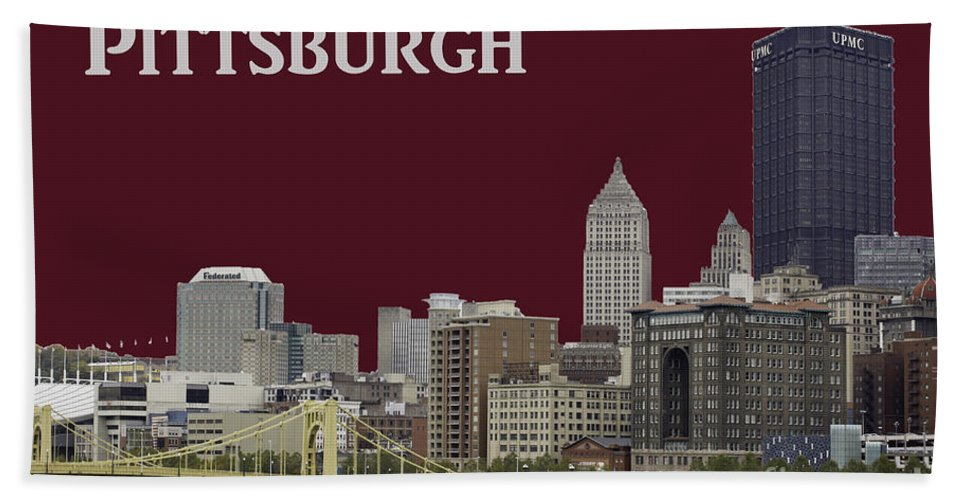Pittsburgh Beach Towel featuring the photograph Pittsburgh Poster by Les Palenik