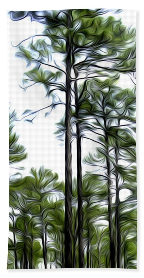 Pine Beach Towel featuring the photograph Pixelated Pine by James Ekstrom