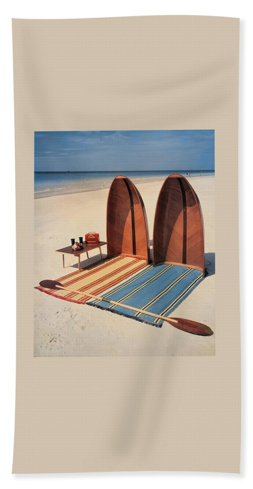 Pixie Collapsible Boat On The Beach Beach Towel