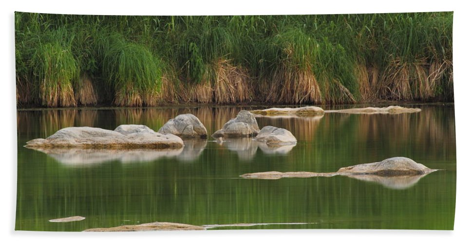 Llano River Beach Towel featuring the photograph Llano River 2am-106459 by Andrew McInnes