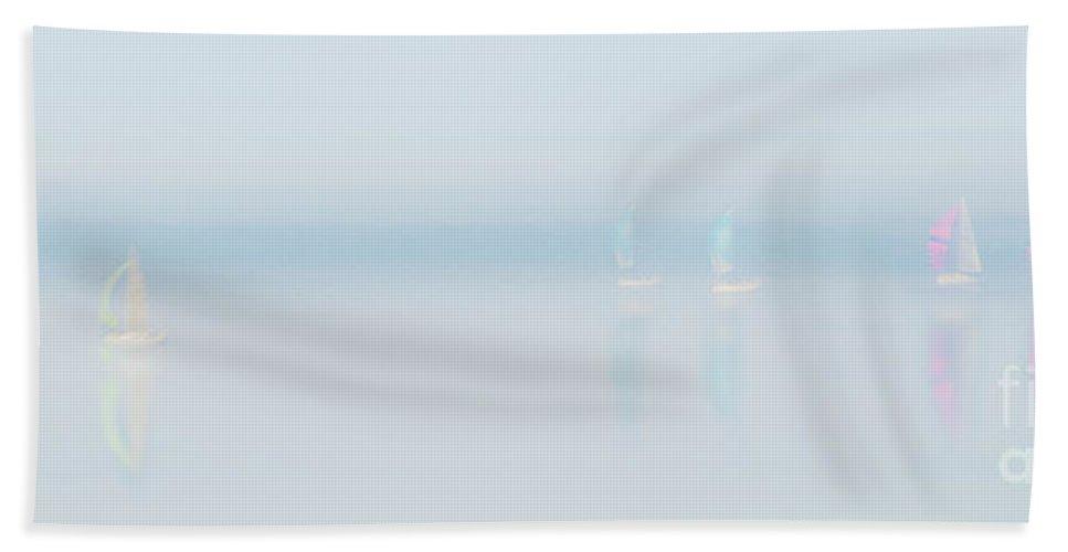 Landscape Beach Towel featuring the photograph Plain Sailing by Janet Burdon