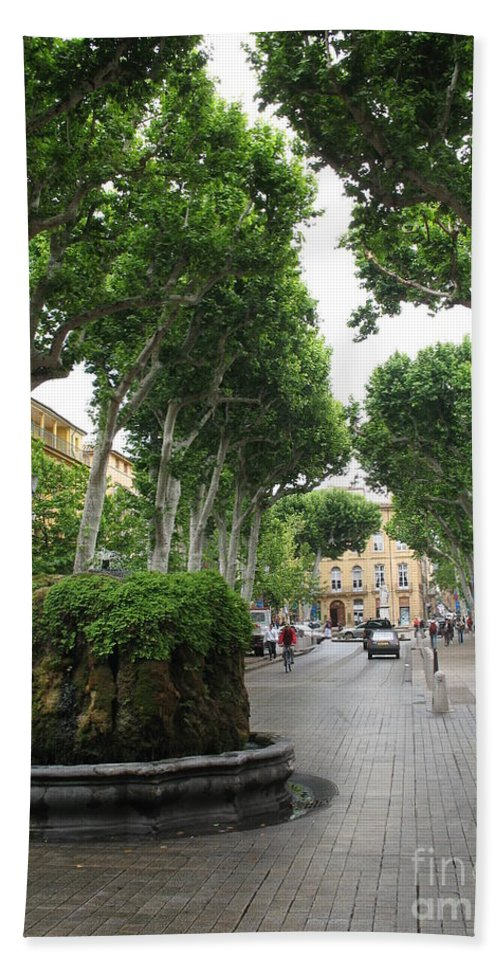 Plane Beach Towel featuring the photograph Plane Alley - Aix En Provence by Christiane Schulze Art And Photography
