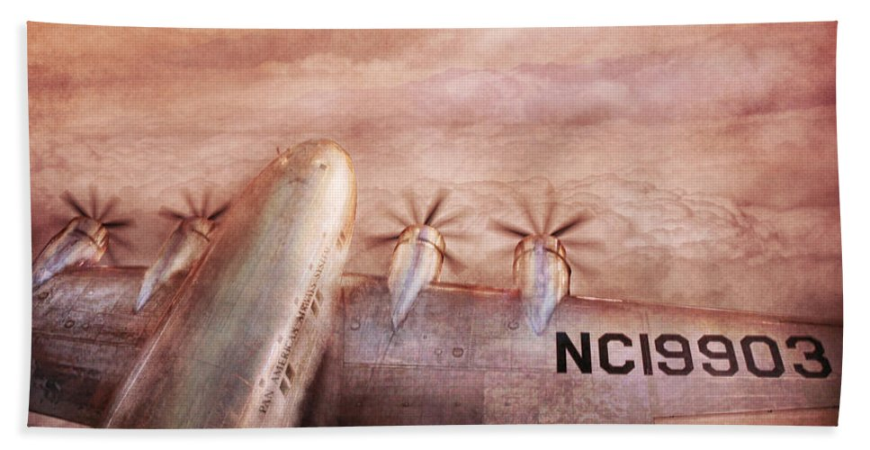 Airplane Beach Towel featuring the photograph Plane - Pilot - Tropical Getaway by Mike Savad